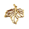 Bronze Pendant Open Maple Leaf 22mm